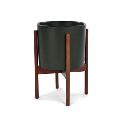 CS PLANTER 10 CHARCOAL / WOOD STAND