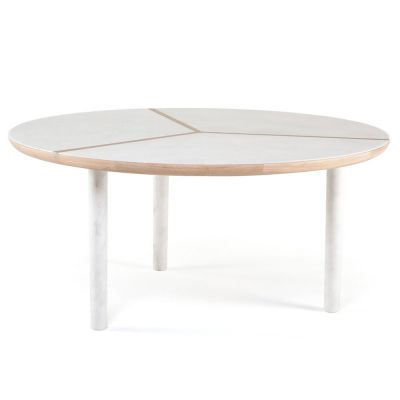 MARLON ROUND DINING TABLE / MARBLE - NICHETTO