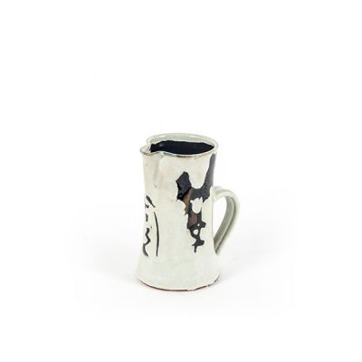 CERAMIC PITCHER LARGE W/ BLK