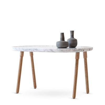 CLOUD COFFEE TABLE LARGE MARBLE/OAK