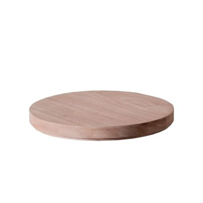 ABCT ROUND MAHOGANY LID KNINDUSTRIE