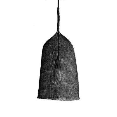 KUTE 001 PENDANT SHADE STEEL BLACK - ATMOSPHERE D'AILLEURS