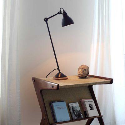 GRAS 206 TABLE LAMP BLACK OAK - DCW EDITIONS