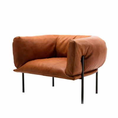 RONDO LEATHER ARMCHAIR - MOLINARI LIVING
