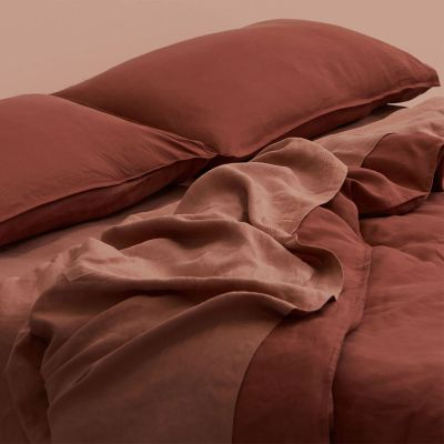 IN THE SAC BUTTON QUILT SET RUST