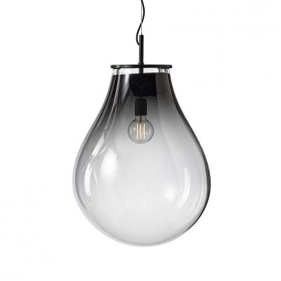 NEW - TIM SMOKED GLASS PENDANT LIGHT - BOMMA