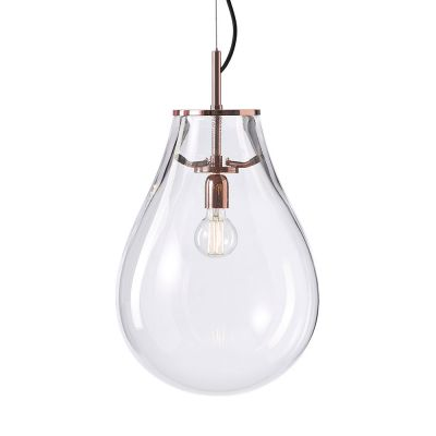 EX DISPLAY TIM SMALL - COPPER CLEAR PENDANT