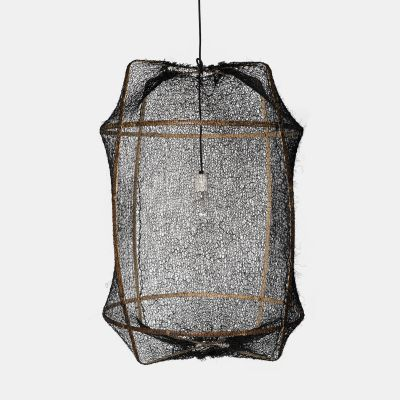Z1 (BLACK) SISAL LAMPSHADE - AY ILLUMINATE